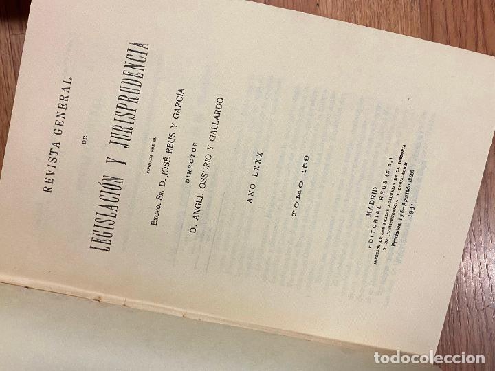 Libros antiguos: 7 TOMOS LEGISLACION Y JURISPRUDENCIA - Foto 8 - 216661950