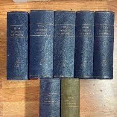 Libros antiguos: 7 TOMOS LEGISLACION Y JURISPRUDENCIA. Lote 216661950