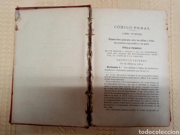 Libros antiguos: Código Penal, 1902 - Foto 3 - 216808363