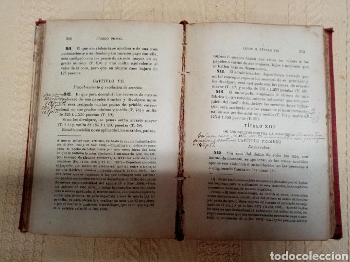 Libros antiguos: Código Penal, 1902 - Foto 4 - 216808363