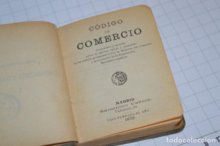 Libros antiguos: CALLEJA - BIBLIOTECA DEL DERECHO VIGENTE - CÓDIGO de COMERCIO / Número 01 - Finales 1800 - ¡Mira! - Foto 7 - 217033905