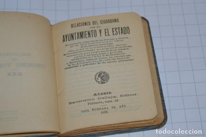 Libros antiguos: CALLEJA - BIBLIOTECA DEL DERECHO VIGENTE - RELACIONES del CIUDADANO / Número 30 Finales 1800 ¡Mira! - Foto 6 - 217088008