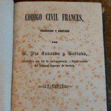 Libros antiguos: CODIGO CIVIL FRANCES, PIO LABORDA Y GALINDO, PYMY 21. Lote 217718208