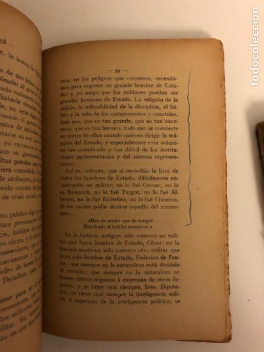 Libros antiguos: Discursos parlamentarios en la Asamblea Constituyente. Emilio Castelar. Tomos I, II y III. Rústica. - Foto 3 - 218646777