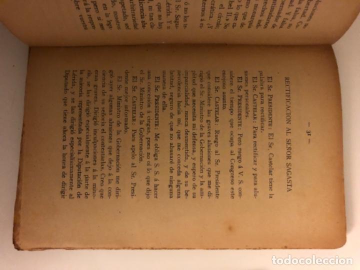 Libros antiguos: Discursos parlamentarios en la Asamblea Constituyente. Emilio Castelar. Tomos I, II y III. Rústica. - Foto 5 - 218646777