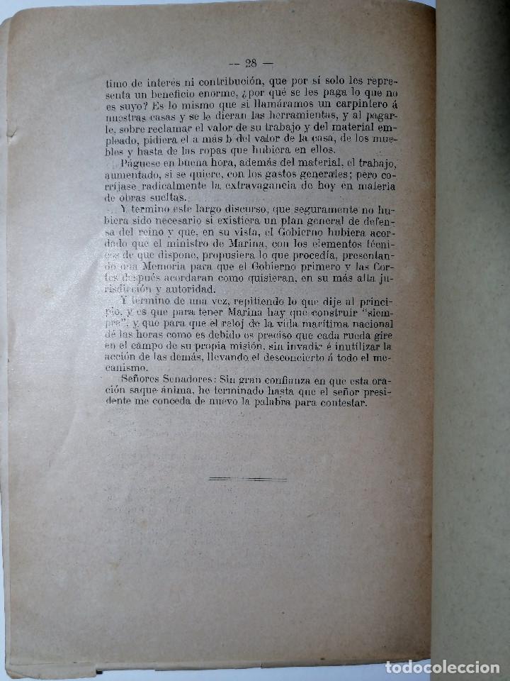 Libros antiguos: EL PROYECTO DE ESCUADRA AL SENADO. VÍCTOR M. CONCAS. 1914. - Foto 4 - 218680507