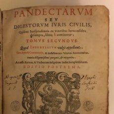Libros antiguos: AÑO 1581 - DIGESTO DE JUSTINIANO A DOS TINTAS - PANDECTARUM SEU DIGESTUM IURIS CIVILIS - GRAN TAMAÑO. Lote 218751242