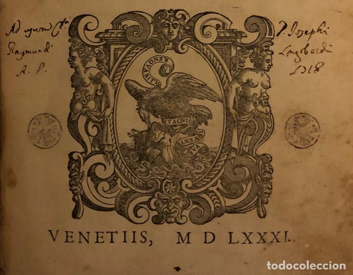 Libros antiguos: AÑO 1581 - DIGESTO DE JUSTINIANO A DOS TINTAS - PANDECTARUM SEU DIGESTUM IURIS CIVILIS - GRAN TAMAÑO - Foto 2 - 218751242
