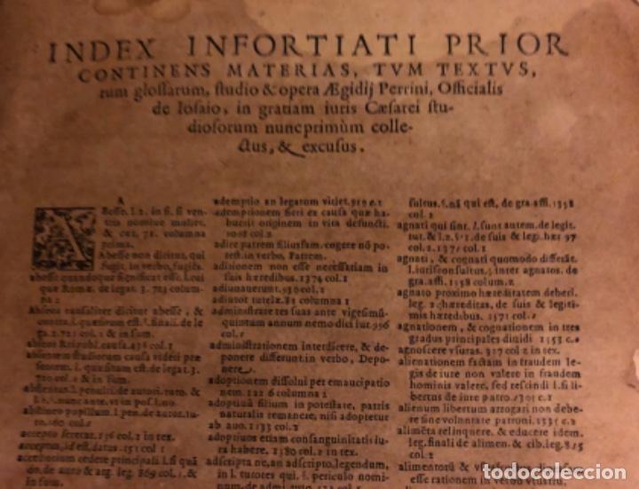 Libros antiguos: AÑO 1581 - DIGESTO DE JUSTINIANO A DOS TINTAS - PANDECTARUM SEU DIGESTUM IURIS CIVILIS - GRAN TAMAÑO - Foto 4 - 218751242