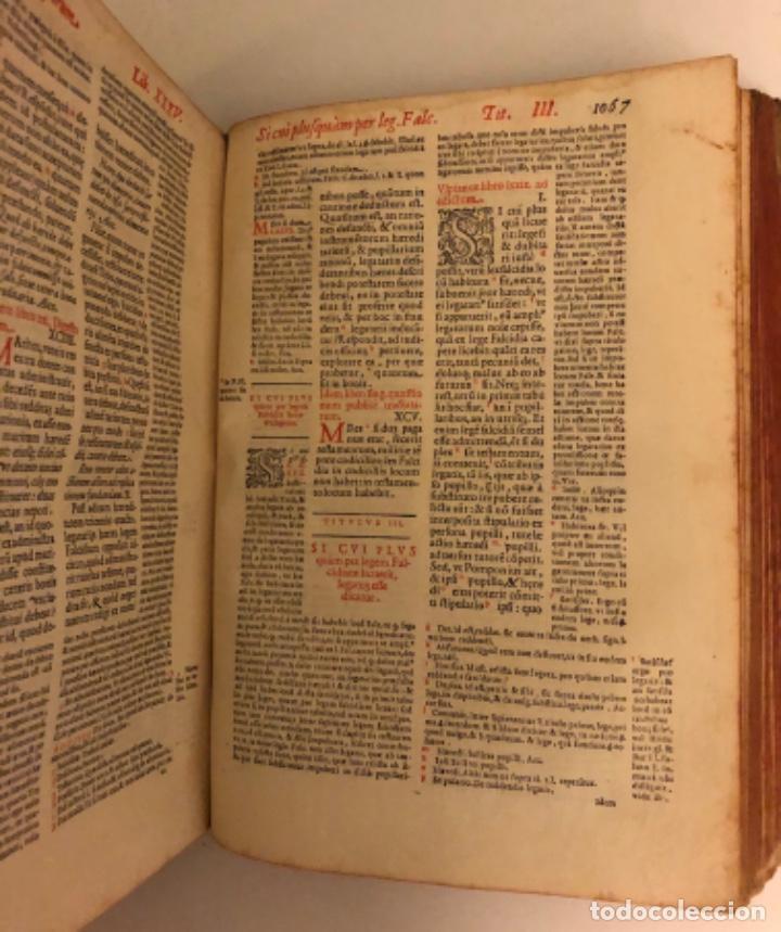 Libros antiguos: AÑO 1581 - DIGESTO DE JUSTINIANO A DOS TINTAS - PANDECTARUM SEU DIGESTUM IURIS CIVILIS - GRAN TAMAÑO - Foto 17 - 218751242