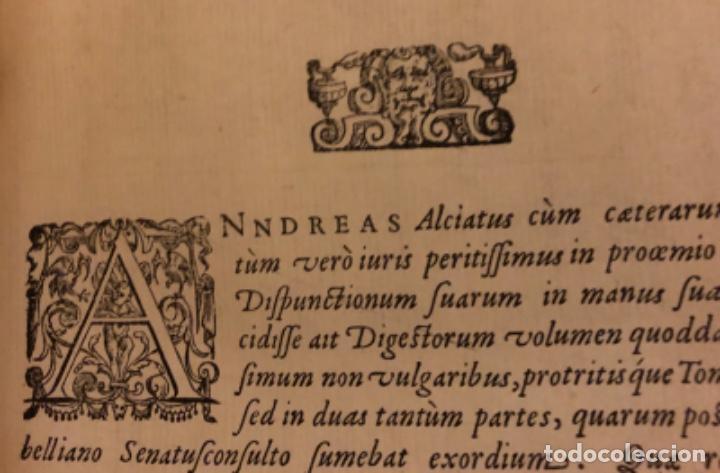 Libros antiguos: AÑO 1581 - DIGESTO DE JUSTINIANO A DOS TINTAS - PANDECTARUM SEU DIGESTUM IURIS CIVILIS - GRAN TAMAÑO - Foto 21 - 218751242