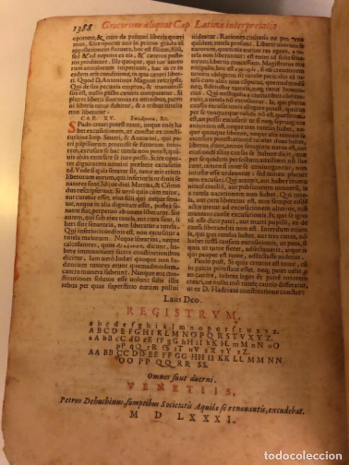 Libros antiguos: AÑO 1581 - DIGESTO DE JUSTINIANO A DOS TINTAS - PANDECTARUM SEU DIGESTUM IURIS CIVILIS - GRAN TAMAÑO - Foto 23 - 218751242