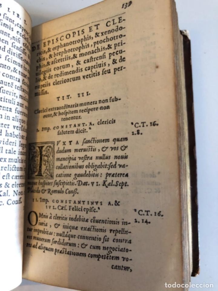 Libros antiguos: AÑO 1581 - CODIGO DE JUSTINIANO - Codex repetitae praelectionis - Corpus iuris civilis - Foto 11 - 218753481
