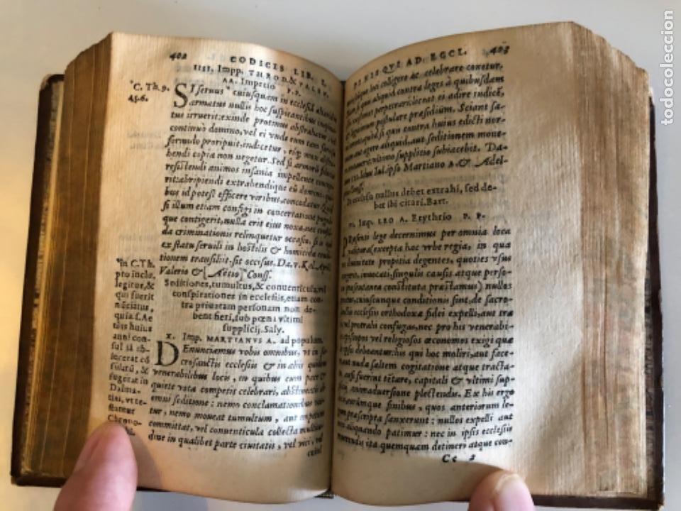 Libros antiguos: AÑO 1581 - CODIGO DE JUSTINIANO - Codex repetitae praelectionis - Corpus iuris civilis - Foto 16 - 218753481