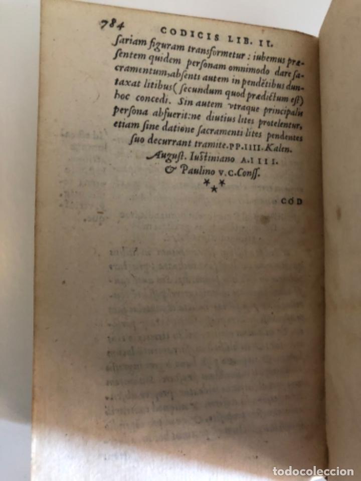 Libros antiguos: AÑO 1581 - CODIGO DE JUSTINIANO - Codex repetitae praelectionis - Corpus iuris civilis - Foto 29 - 218753481