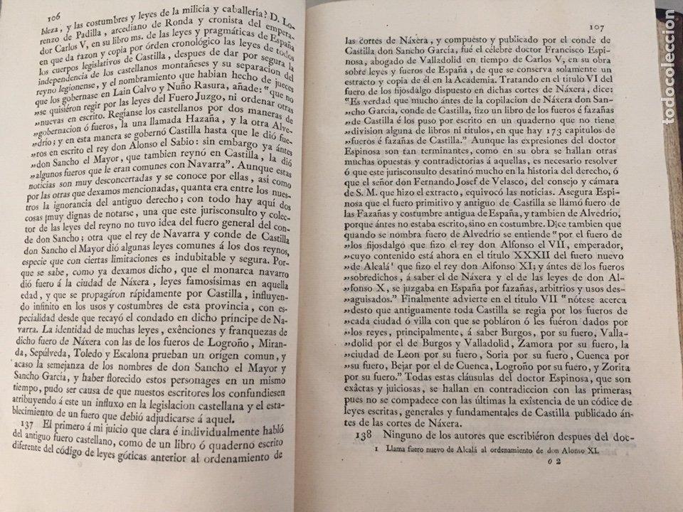 Libros antiguos: ENSAYO HISTORICO-CRITICO SOBRE LA ANTIGUA LEGISLACION Y PRINCIPALES...MARINA (1808) - Foto 4 - 218798608