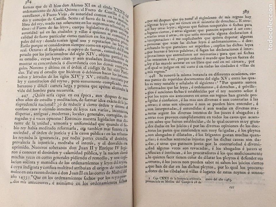 Libros antiguos: ENSAYO HISTORICO-CRITICO SOBRE LA ANTIGUA LEGISLACION Y PRINCIPALES...MARINA (1808) - Foto 7 - 218798608