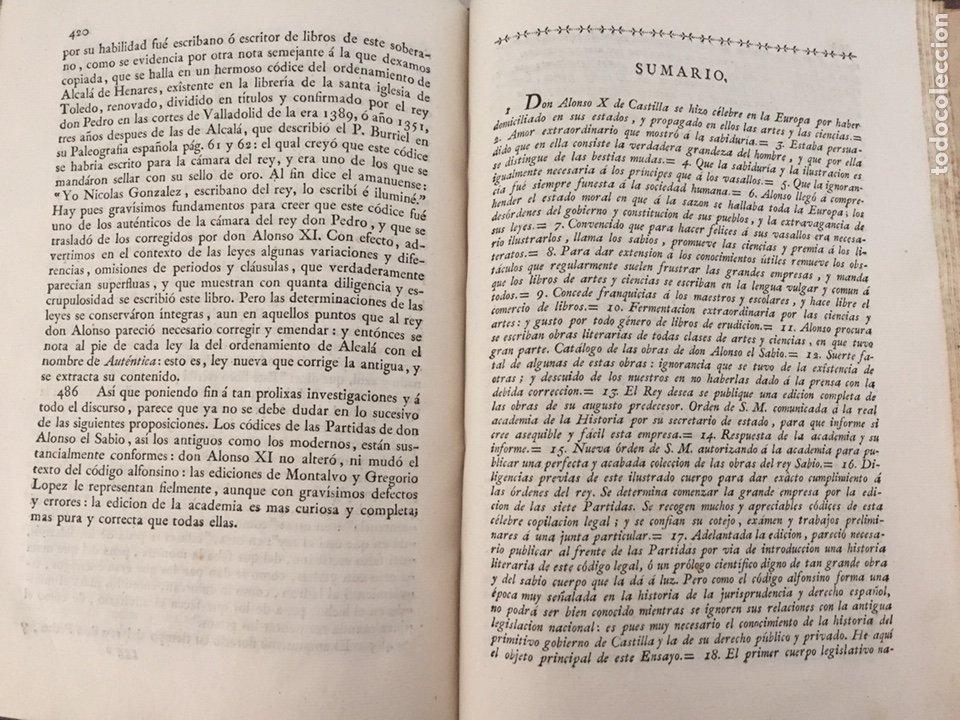 Libros antiguos: ENSAYO HISTORICO-CRITICO SOBRE LA ANTIGUA LEGISLACION Y PRINCIPALES...MARINA (1808) - Foto 8 - 218798608