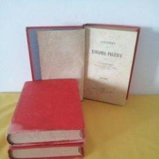 Libros antiguos: D. SANTIAGO DIEGO MADRAZO - LECCIONES DE ECONOMIA POLITICA (3 TOMOS) - 1874. Lote 219529930