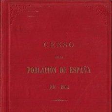 Libros antiguos: CENSO DE POBLACIÓN EN ESPAÑA EN 1900 - TOMO SEGUNDO. Lote 220898311
