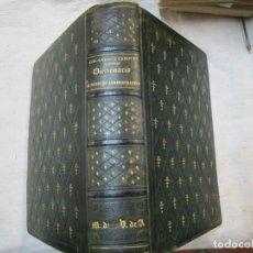 Libros antiguos: CANOVAS DEL CASTILLO, EMILIO - DICCIONARIO DE DERECHO ADMINISTRATIVO ESPAÑOL 1860 - DEDICADO + INFO. Lote 221506888