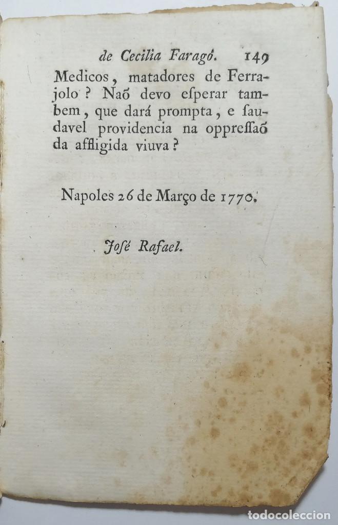Libros antiguos: DEFEZA DE CECILIA FARAGO ACUSADA DO CRIME FEITICERIA. 1783. - Foto 5 - 221632795