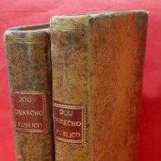 Libros antiguos: INSTITUCIONES DEL DERECHO PÚBLICO GENERAL DE ESPAÑA CON NOTICIA DEL PARTICULAR DE CATALUÑA. 2 TOMOS.. Lote 222121025