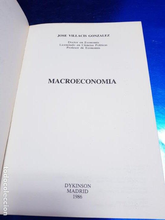 Libros antiguos: LIBRO-MACROECONOMIA-JOSE VILLACIS GONZALEZ-MADRID-1986-DYKINSON-VER FOTOS - Foto 5 - 222406442