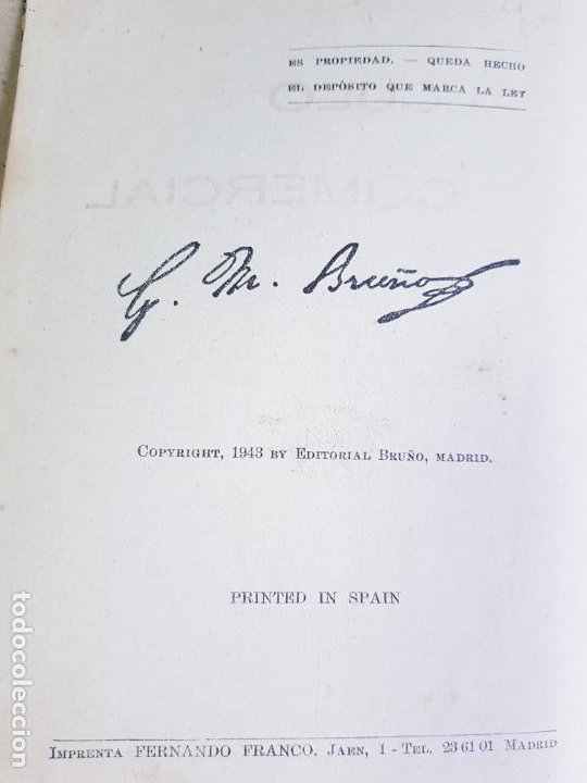 Libros antiguos: LIBRO-CALCULO COMERCIAL-EDICION BRUÑO-1943-MADRID-VER FOTOS - Foto 5 - 222408522