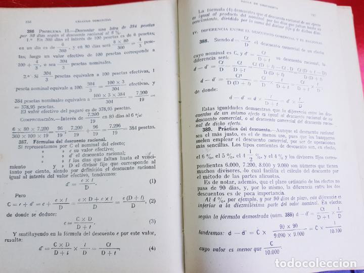 Libros antiguos: LIBRO-CALCULO COMERCIAL-EDICION BRUÑO-1943-MADRID-VER FOTOS - Foto 8 - 222408522