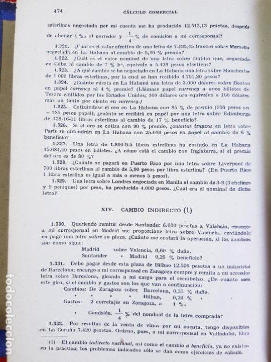 Libros antiguos: LIBRO-CALCULO COMERCIAL-EDICION BRUÑO-1943-MADRID-VER FOTOS - Foto 12 - 222408522