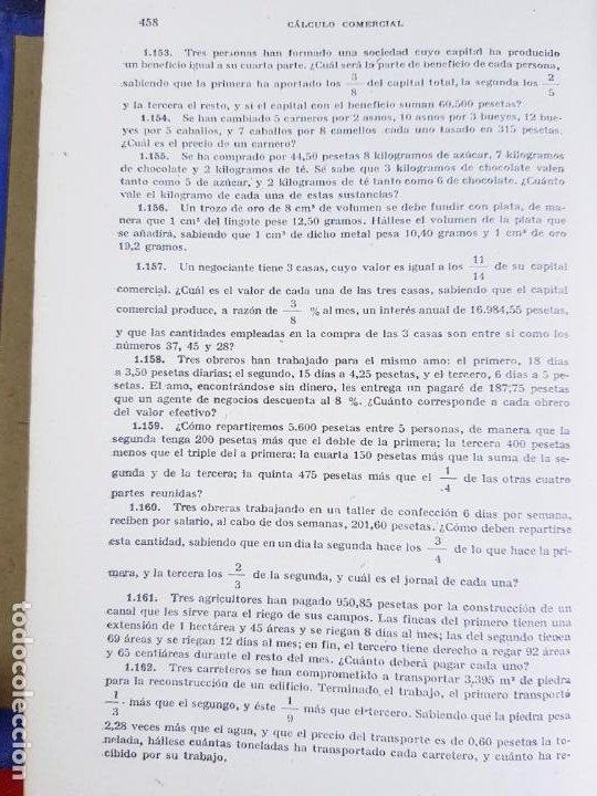 Libros antiguos: LIBRO-CALCULO COMERCIAL-EDICION BRUÑO-1943-MADRID-VER FOTOS - Foto 14 - 222408522