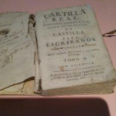 Libros antiguos: CARTILLA REAL THEORICO PRACTICA SEGUN LEYES DE CASTILLA .. DIEGO BUSOTO Y LISARES TOMÓ II 1757. T.I. Lote 222465933