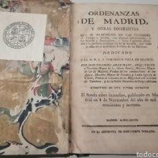 Libros antiguos: ANTIGUO LIBRO ORDENANZAS DE MADRID. Lote 222574668