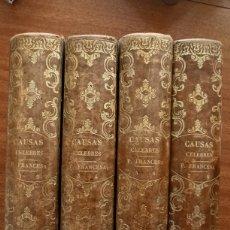 Libros antiguos: COLECCIÓN CAUSAS CELEBRES PARTE FRANCESA TOMOS 1-8 1834. Lote 222735755