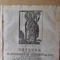 Libros antiguos: DEFENSA QUE HACEN LEGORBURU, VILLA DE ALMONTE, EN PLEYTO CONTRA SUERO, AÑO 1.774. Lote 222832881