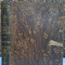 Libros antiguos: LEY HIPOTECARIA, REGLAMENTO GENERAL PARA SU EJECUCION E INSTRUCCION. Lote 223041937
