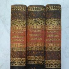 Libros antiguos: INSTITUCIONES DEL DERECHO CANONICO. DOMINGO CAVALARIO. 3 TOMOS AÑO 1837. Lote 223726463