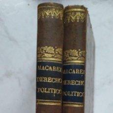 Libros antiguos: ELEMENTOS DE DERECHO POLITICO. M.L. A. MACAREL 2 TOMOS, 1838 (TRADUCION D.FELIX ENCISO CASTRILLON). Lote 223732292