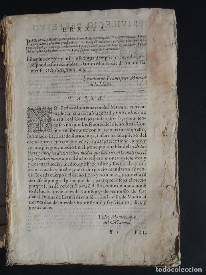 Libros antiguos: 1619 - DE RATIOCINIIS ADMINISTRATORUM - FRANCISCO MUÑOZ DE ESCOBAR - VALLADOLID - LERMA - Foto 3 - 224066647