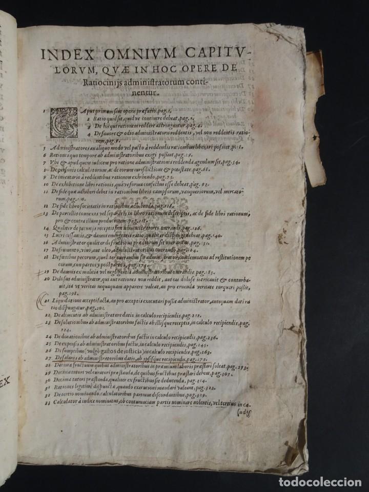 Libros antiguos: 1619 - DE RATIOCINIIS ADMINISTRATORUM - FRANCISCO MUÑOZ DE ESCOBAR - VALLADOLID - LERMA - Foto 7 - 224066647