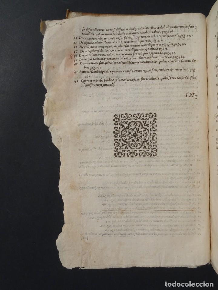 Libros antiguos: 1619 - DE RATIOCINIIS ADMINISTRATORUM - FRANCISCO MUÑOZ DE ESCOBAR - VALLADOLID - LERMA - Foto 8 - 224066647