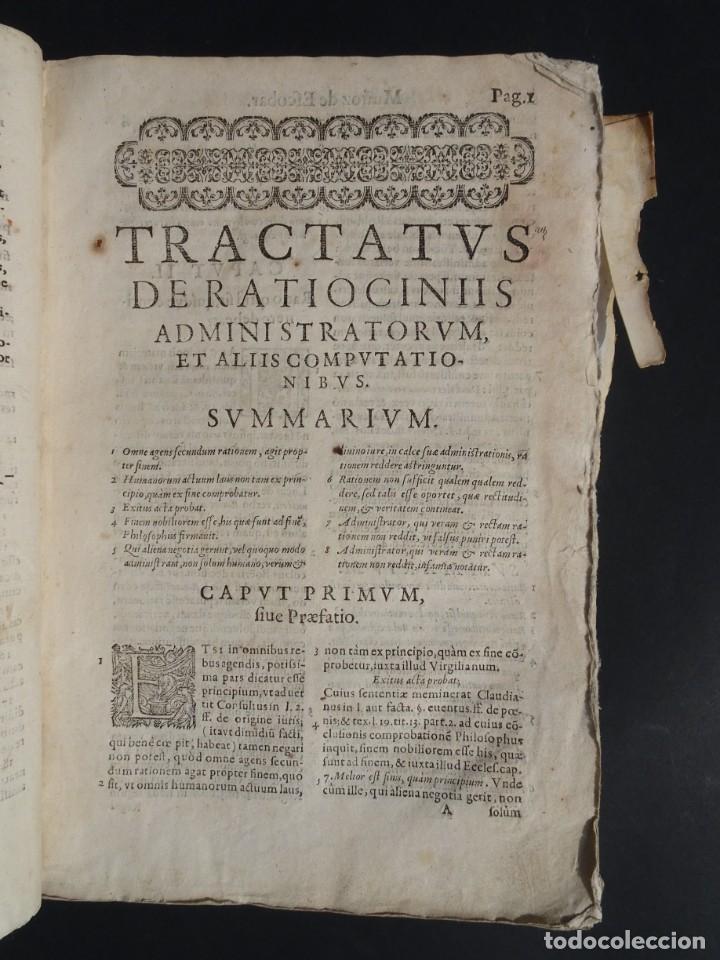 Libros antiguos: 1619 - DE RATIOCINIIS ADMINISTRATORUM - FRANCISCO MUÑOZ DE ESCOBAR - VALLADOLID - LERMA - Foto 9 - 224066647