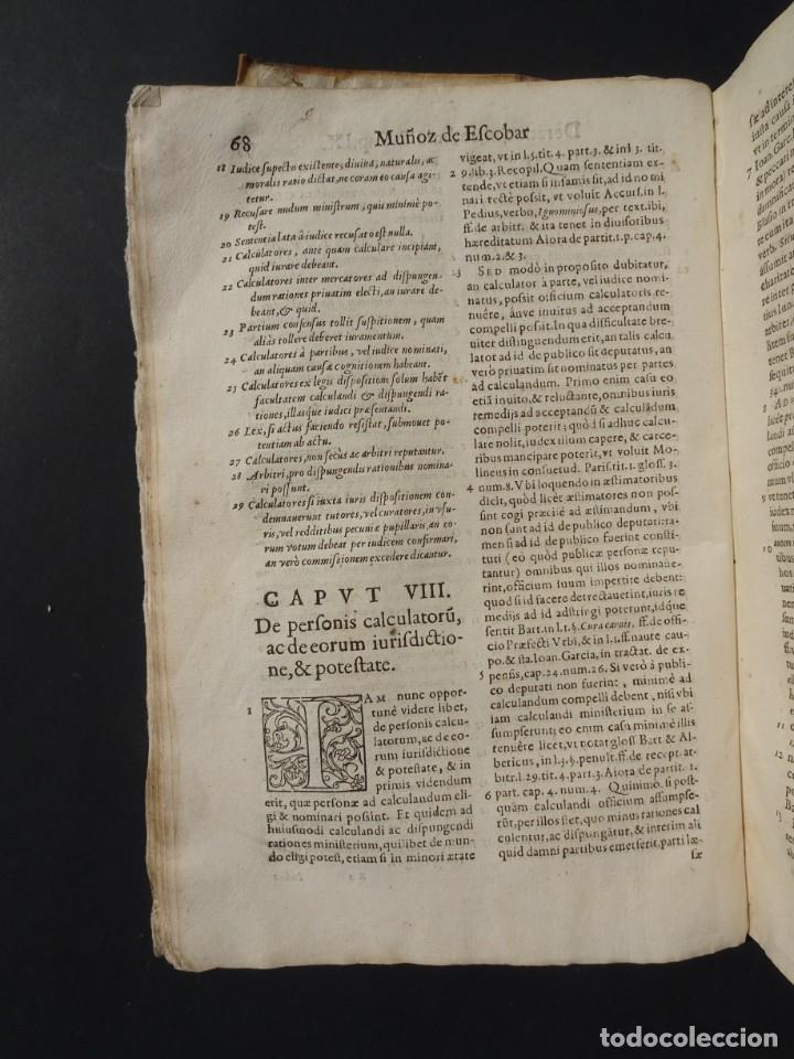 Libros antiguos: 1619 - DE RATIOCINIIS ADMINISTRATORUM - FRANCISCO MUÑOZ DE ESCOBAR - VALLADOLID - LERMA - Foto 12 - 224066647