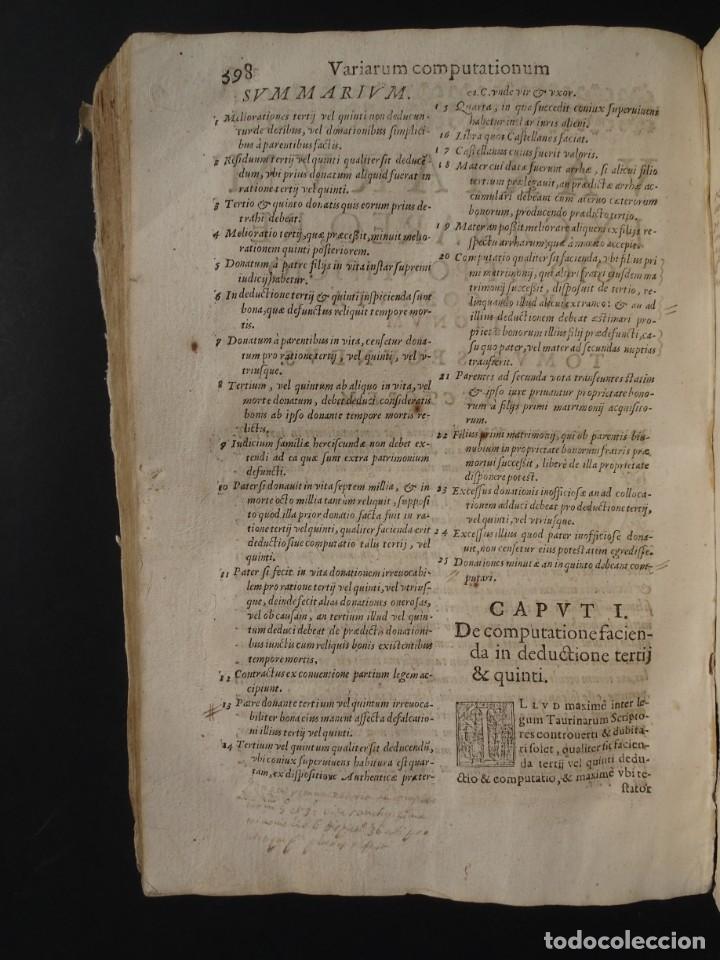 Libros antiguos: 1619 - DE RATIOCINIIS ADMINISTRATORUM - FRANCISCO MUÑOZ DE ESCOBAR - VALLADOLID - LERMA - Foto 22 - 224066647