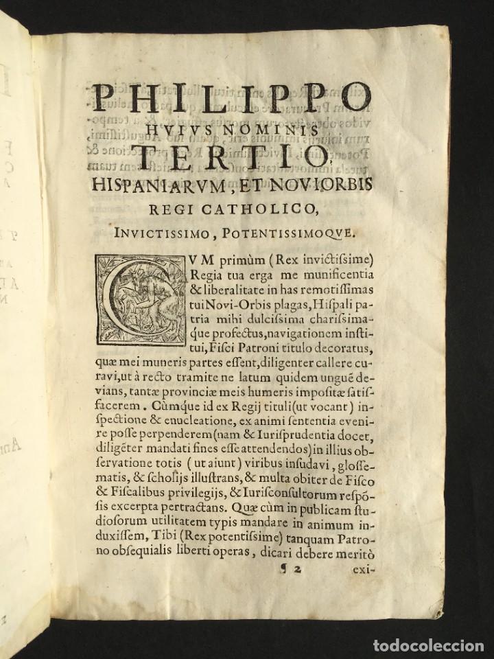 Libros antiguos: 1639 Derecho Indiano - fiscal - América - Alfaro, Francisco de - Tractatus de officio fiscalis - Foto 5 - 224631223
