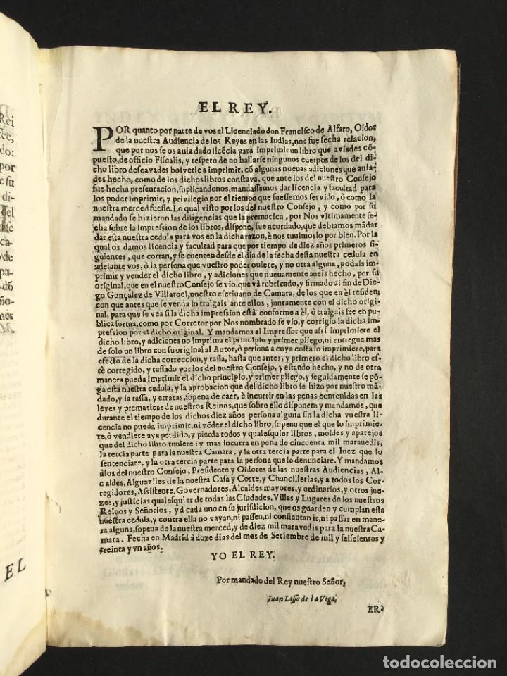 Libros antiguos: 1639 Derecho Indiano - fiscal - América - Alfaro, Francisco de - Tractatus de officio fiscalis - Foto 7 - 224631223