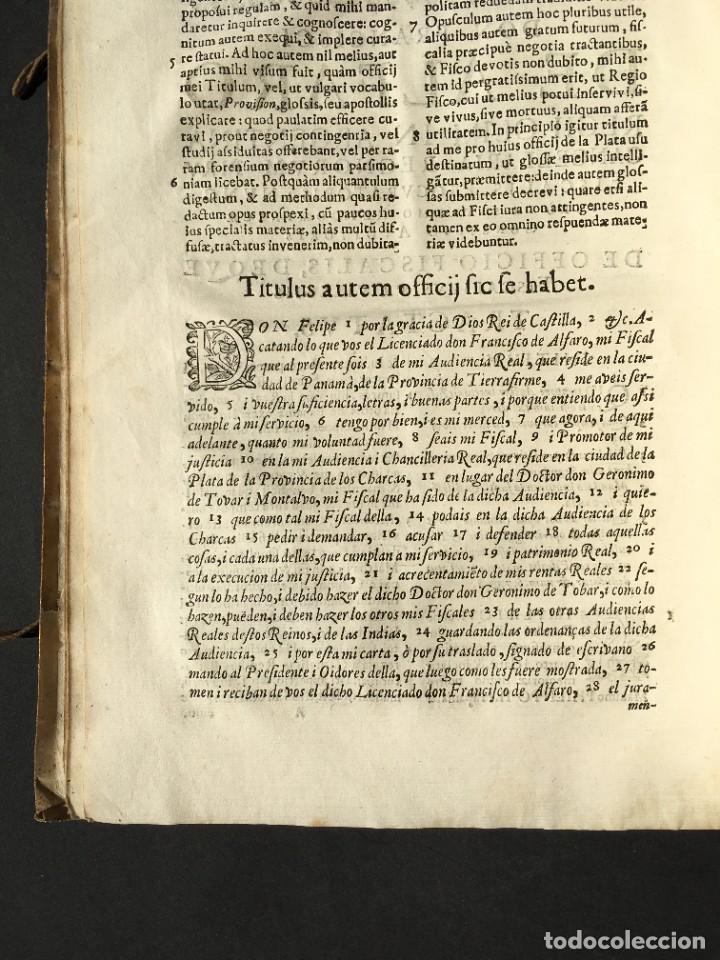 Libros antiguos: 1639 Derecho Indiano - fiscal - América - Alfaro, Francisco de - Tractatus de officio fiscalis - Foto 10 - 224631223