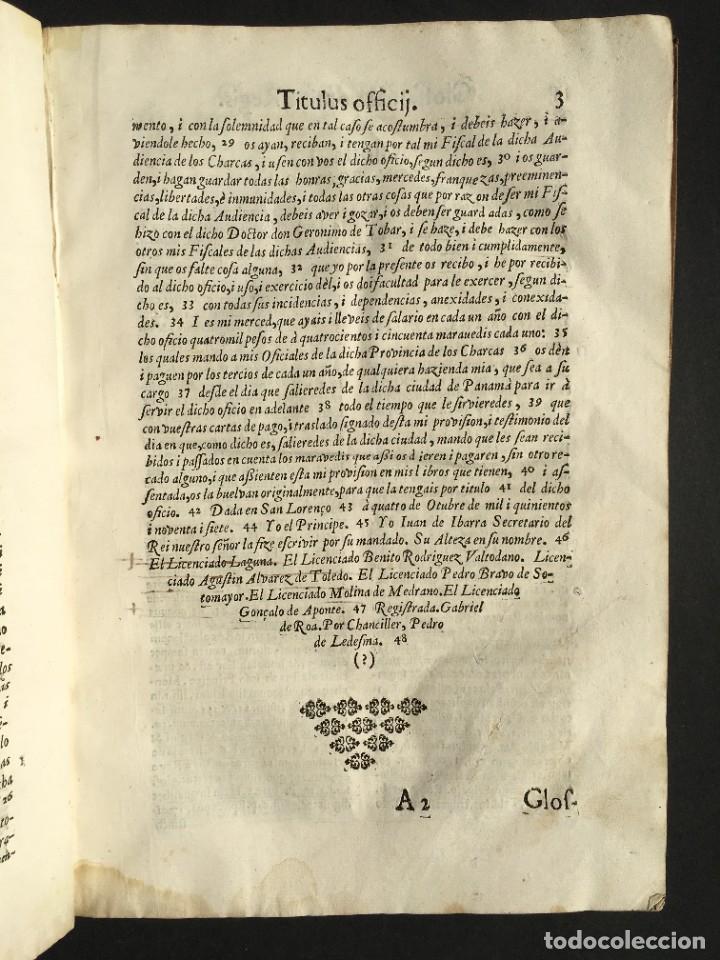 Libros antiguos: 1639 Derecho Indiano - fiscal - América - Alfaro, Francisco de - Tractatus de officio fiscalis - Foto 11 - 224631223
