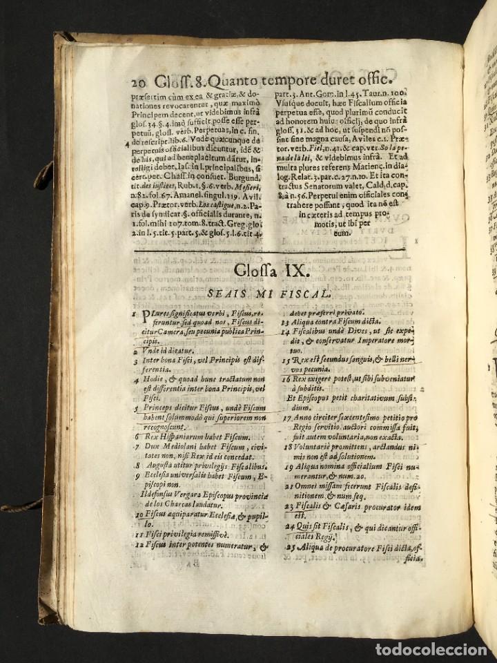 Libros antiguos: 1639 Derecho Indiano - fiscal - América - Alfaro, Francisco de - Tractatus de officio fiscalis - Foto 15 - 224631223